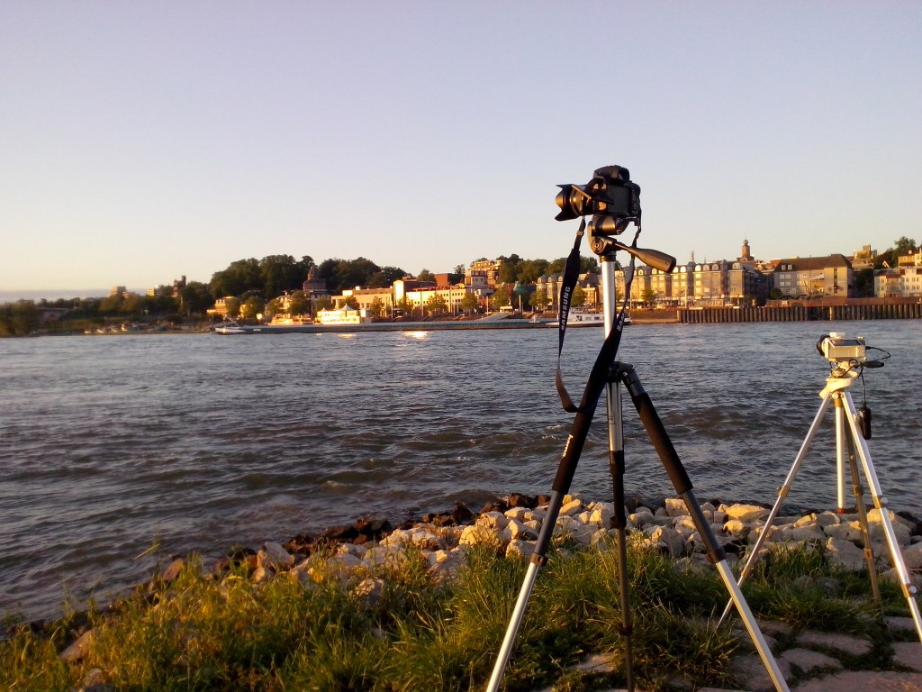 During the Timelapse